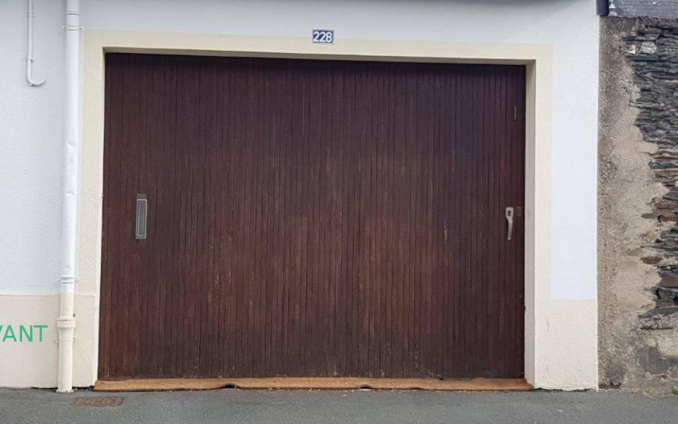 Porte de garage electrique latest with porte de garage for Tarif pose porte de garage