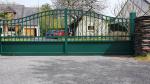 Portail vert aluminium coulissant