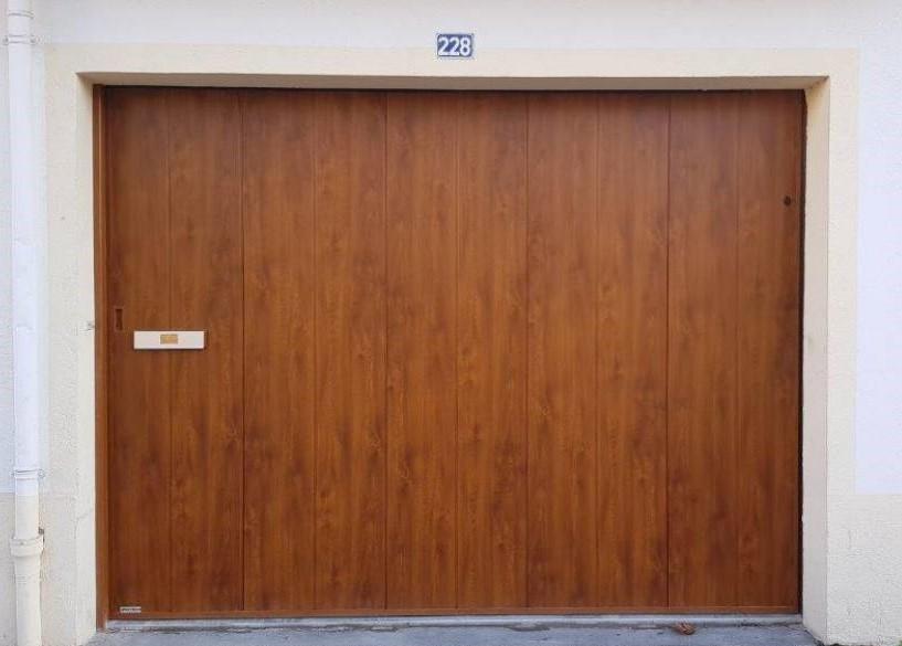 pose porte de garage coulissante Angers